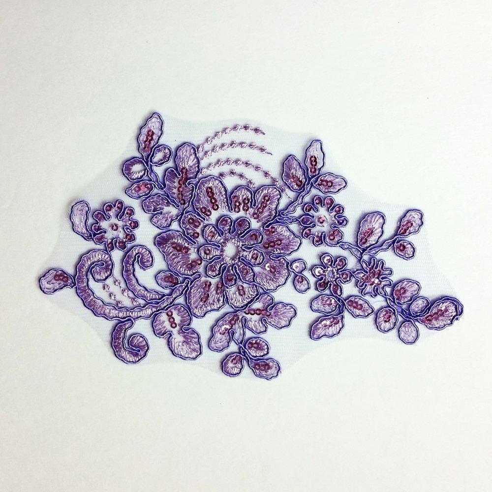 lavender sequin applique