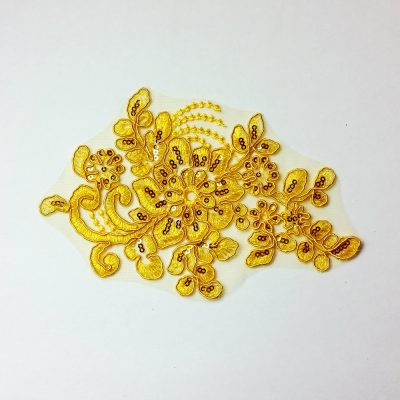 add this yellow sequin applique to any base leotard from Black Sapphire Design