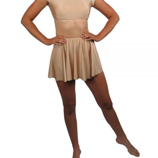 short lycra ballet circle skirt