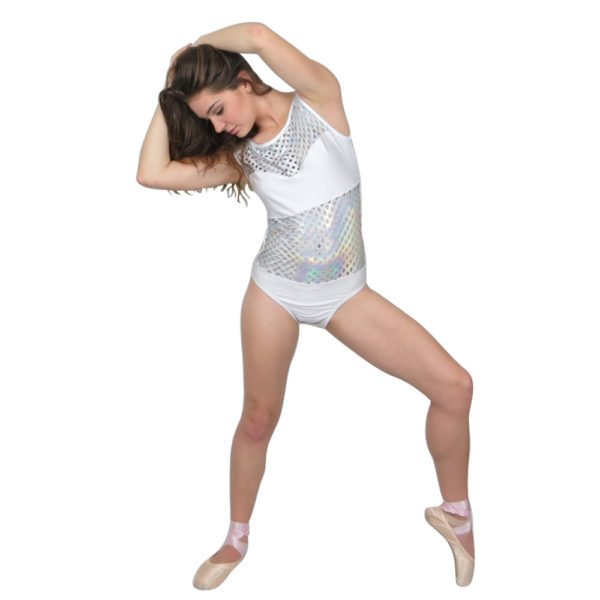 add this hologram cutout leotard to your dance wardrobe today