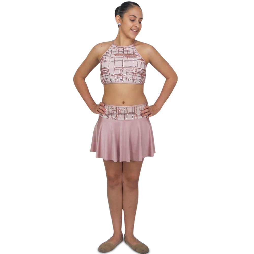 dusty rose lyrical dance costume front2