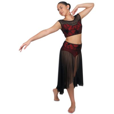 this Floral Two Piece Custom Lyrical Dance Costume is perfect for your dance team