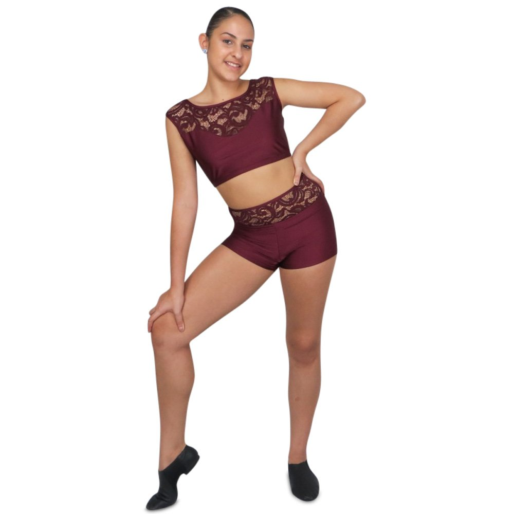 lace custom two piece competition dance costume front
