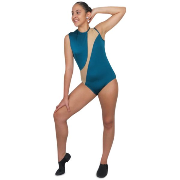 Open Back Mesh Cut Out Leotard in 12 colors is perfect for your dance team