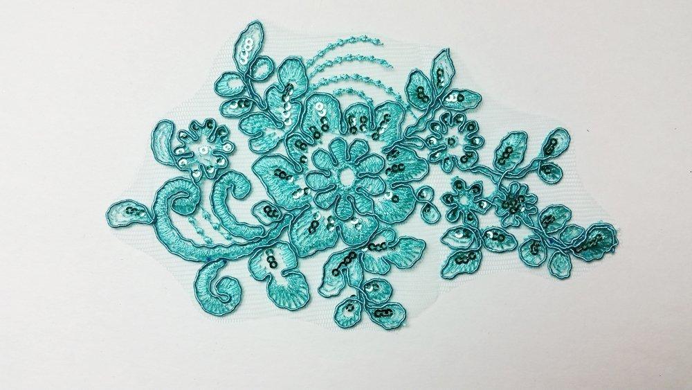 applique turquoise