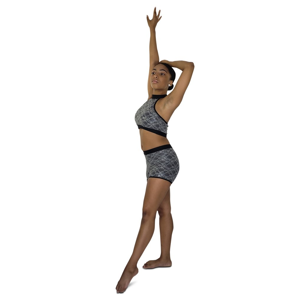black-lace-dance-shorts-metallic