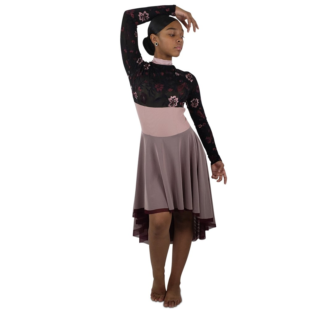 lyrical-contemporary-dance-dress-rose4