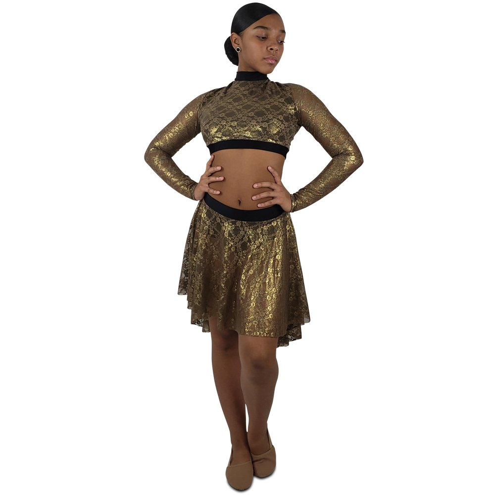 womens-ballet-skirt-metallic-lace