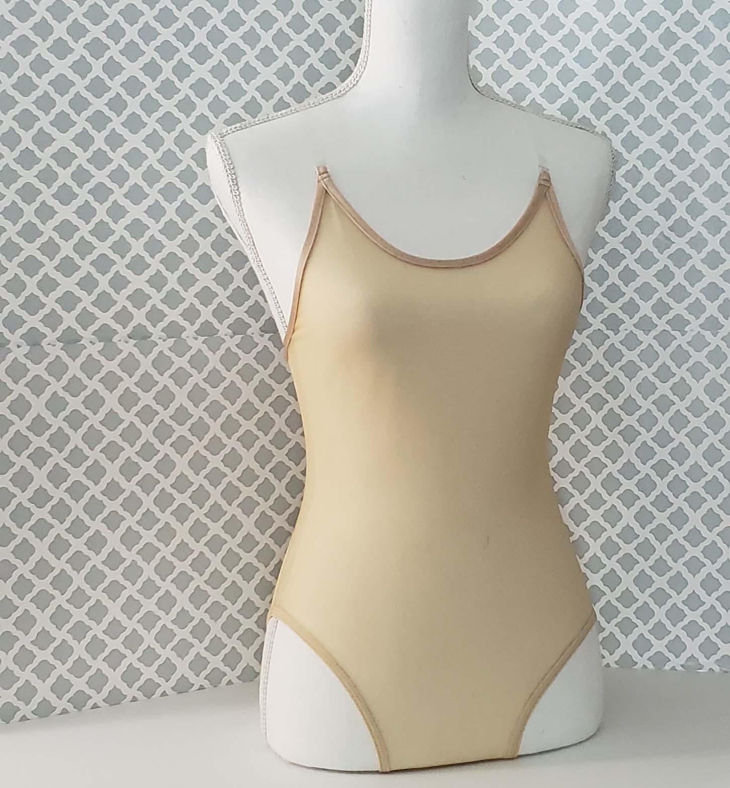 nude mesh leotard front 1