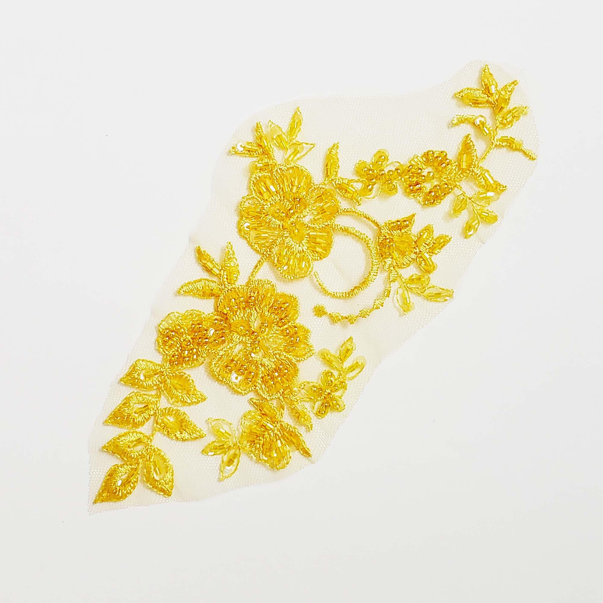 yellow applique
