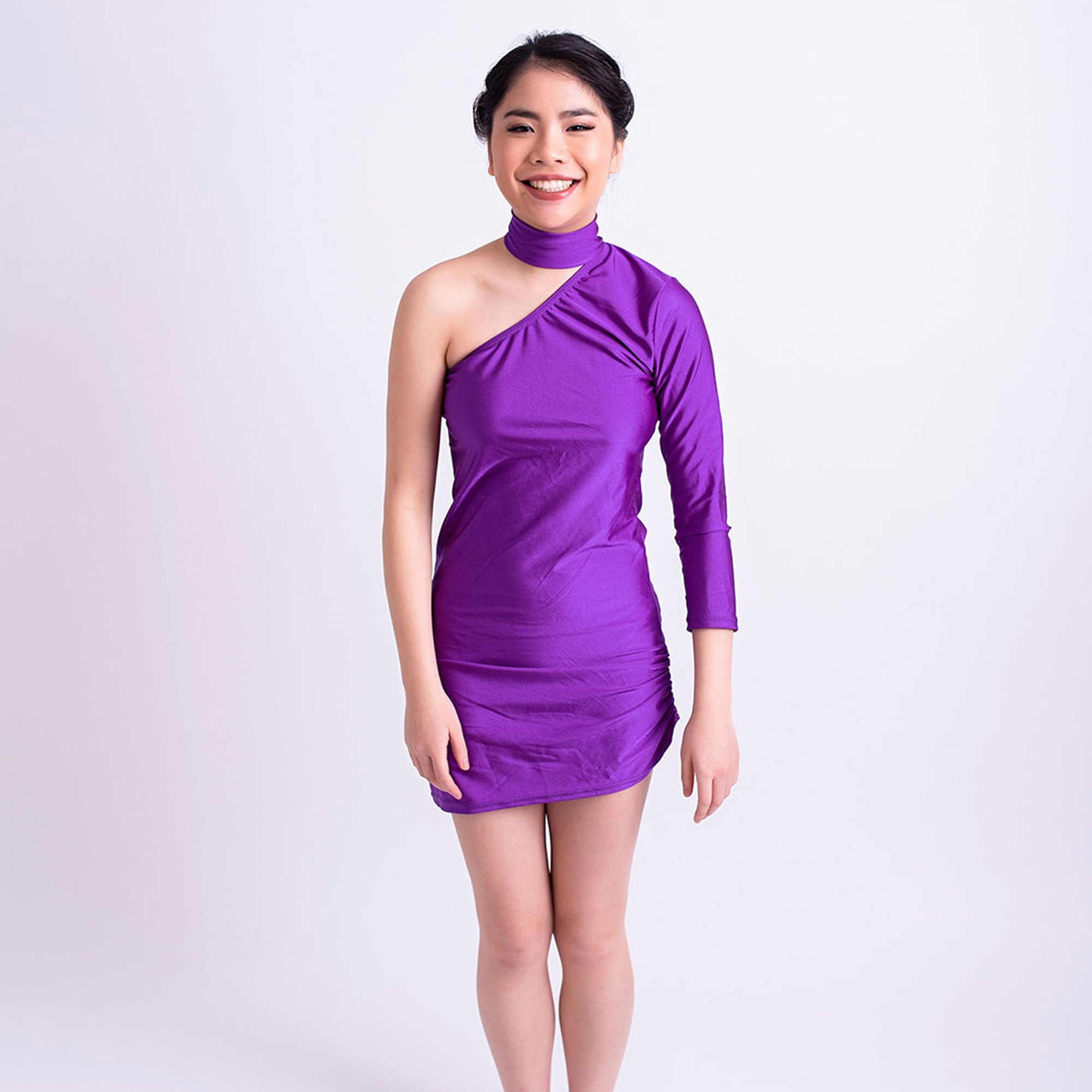 Simple Dance Dress with One Sleeve website