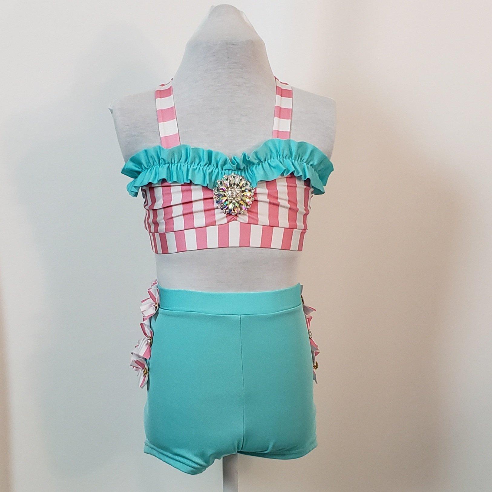 Cute striped costume child medium