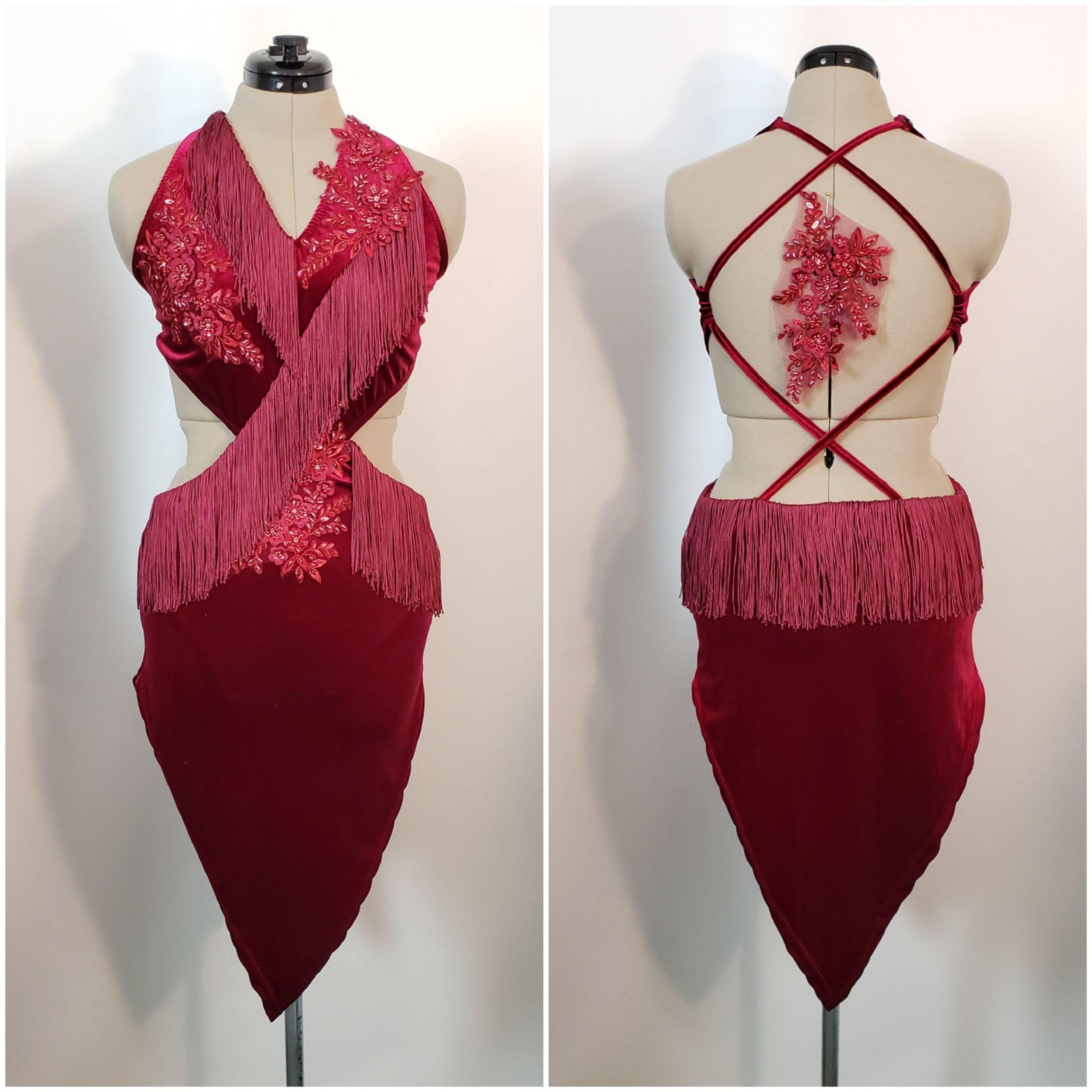 burgundy velvet tango dress adult medium1